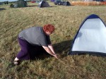 Putting up tent