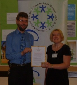 Receiving Positive About Disabled People Certificate